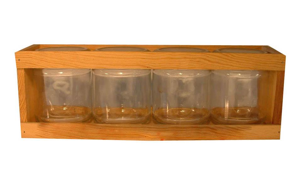 coffret bois 4 verre 250 g site officiel de la coop rative apicole du jura mat riel et. Black Bedroom Furniture Sets. Home Design Ideas